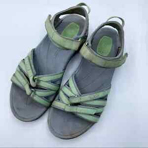 Women-039-s-Teva-8-5-Mint-Green-amp-Gray-Strappy-Anatomic-Tirra-Hiking-Outdoor-Sandals