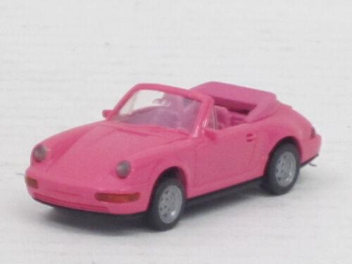 1:87 sin OVP Porsche 911 carrera 4 convertible en rosa Wiking