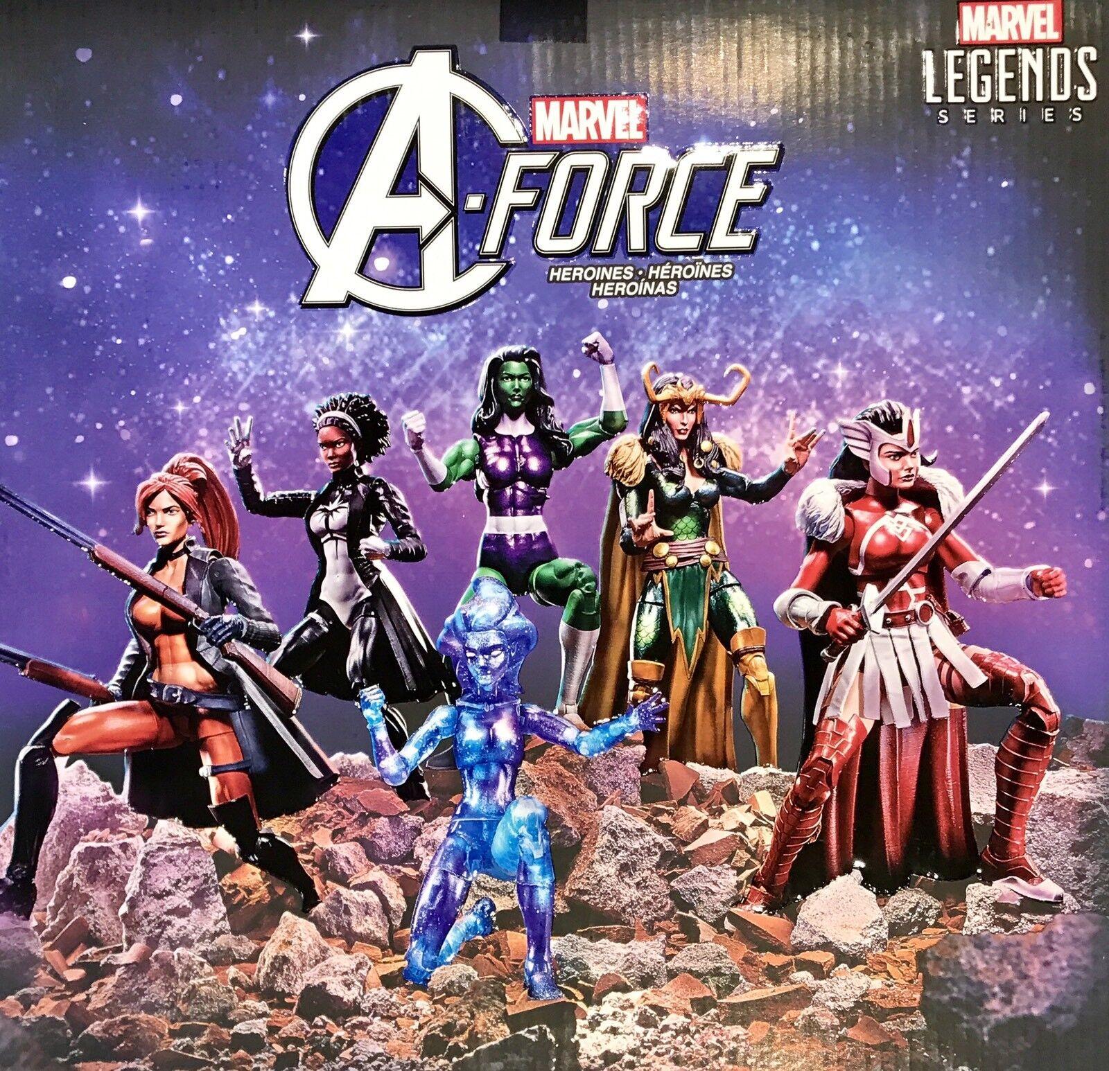Neue marvel - legenden a-force sie hulk, loki, lady sif - sdcc tru - exklusiv -