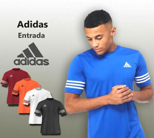 Adidas-T-Shirt-Ens-Entrada-Slim-fit-Addicted-Short-Sleeve-Top-Football-S-M-L-XL