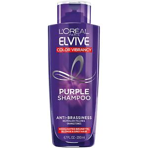 L'Oreal Paris Elvive Color Vibrancy Anti-Brassiness Purple Shampoo for Color & &