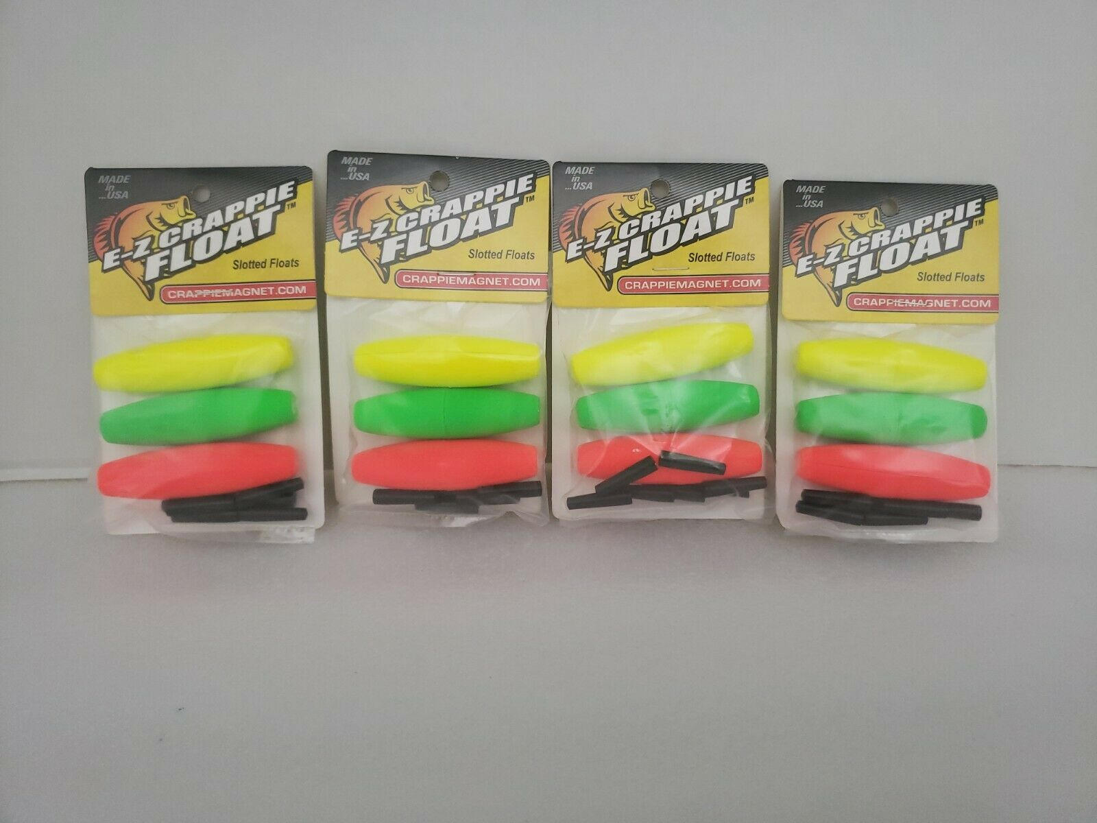 """3-PACK Leland Lures E-Z Crappie MAGNET CIGAR SLOTTED Float Fishing stopper 2.5/"""""""