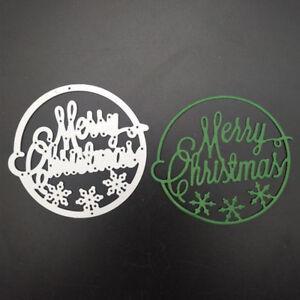 Frohe Weihnachten Schablone.Frohe Weihnachten Metall Stanzformen Schablone Scrapbook