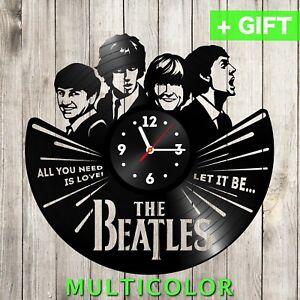 Image Is Loading Beatles Vinyl Clock Unique Music Decor Retro Art