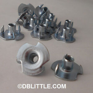 2000-1105NT3-10-32-x-5-16-034-3-Prong-T-Nut-Tee-Nuts-for-woodworking-amp-furniture