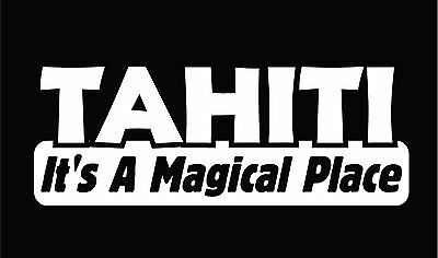 TAHITI It's a MAGICAL PLACE Agents of SHIELD sticker decal Agent Coulson