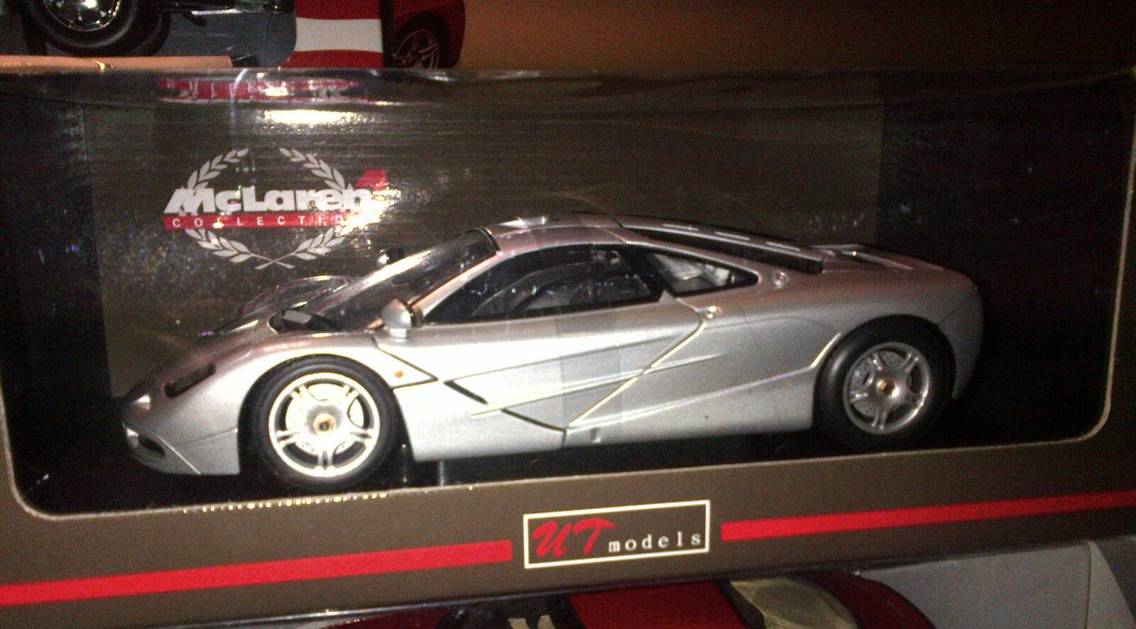 McLaren F1 Argent 1 18 en ut models très rare interrompu New in Box dernière pièce
