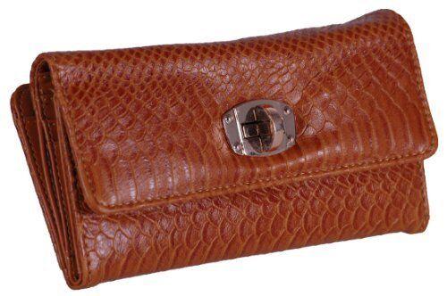 Damen Faux Leder Kroko ausdrucken Kredit Card Tasche Geldborse