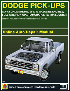 1977 dodge w200 haynes online repair manual select access ebay rh ebay com Dodge Ram Owners Manual Dodge Dakota Wiring Manual