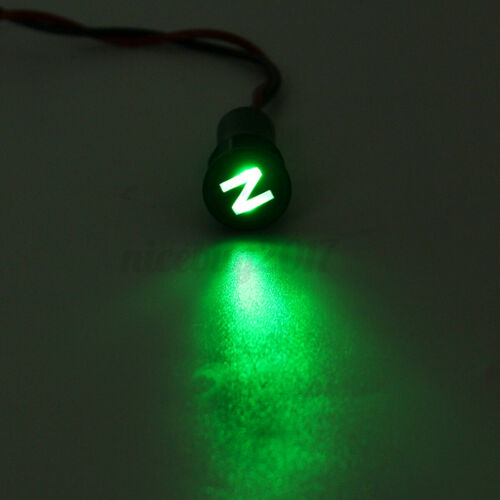 Metal Barrel LED Indicator Lamp Signal Lamp Signal Light Pilot Lamp 12V