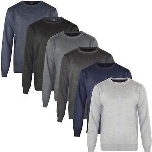 Clothes, Shoes & Accessories Gewissenhaft New Mens Cotton Jumper Crew Neck Casual Pullover Sweater Top Super Soft Knitwear Spezieller Kauf