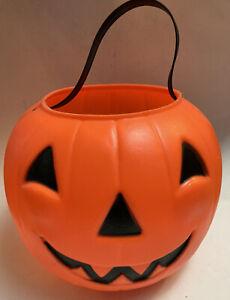 VTG-Empire-Blow-Mold-Halloween-Jack-O-Lantern-Pumpkin-Candy-Trick-Treat-Bucket