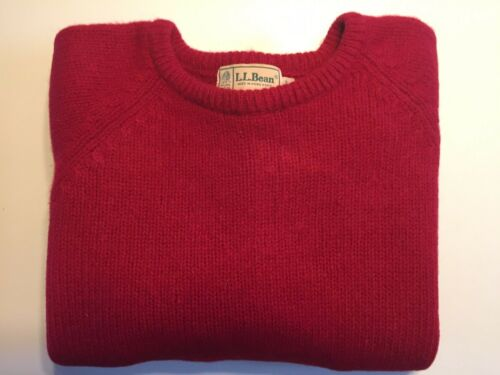 LL Bean 100% Pure Wool lovely  Warm Knit Sweater ""