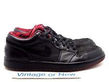 Nike Air Jordan I 1 Retro Low Black Metallic Silver Varsity Red 2007 sz 10.5