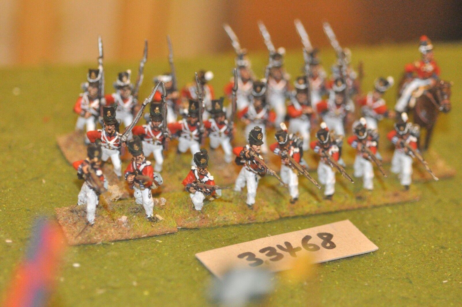 25mm napoleonic   british - line 25 figures - inf (33468)