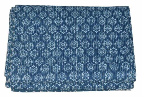 Indian Handmade Cotton Kantha Quilt Throw Blanket Mix Queen//Twin Kantha Quilt