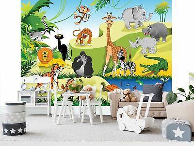 JUNGLE RAINFOREST WILD ANIMALS Photo Wallpaper Wall Mural for KIDS 360x254 HUGE!