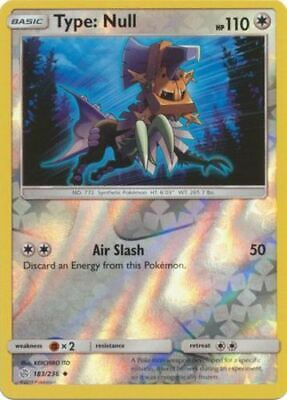 Type Null  183//236  S/&M Unified Minds  Uncommon  Mint//NM  Pokemon