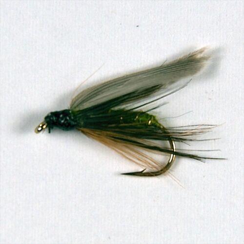 6 Greenwells gloire Wet Trout Fishing Flies Taille Options par Libellules