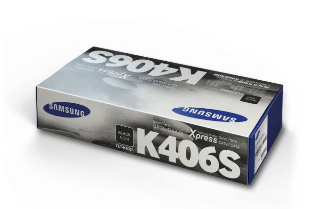 Samsung Genuine CLT-K406S BLACK Toner (SU120A) For CLP360 CLX3300 1.5K Pages