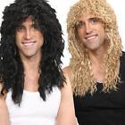 Rock Star Long Wig Mens 80's Rocker Fancy Dress Adult 1980s Costume Accessory