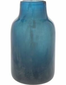 NEW Darren Palmer Glass Luster Bottle Blue 23cm