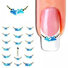 J367 NAGELSTICKER blaue Schmetterlinge für French Style selbstklebend ...