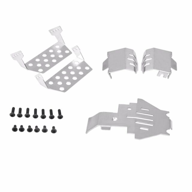 6PCS Stainless Steel Chassis Armors Protection Skid Plate Set for TRX-4