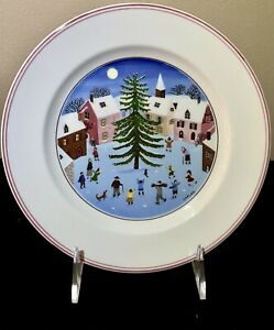 Villeroy Boch Naif Christmas Dessert Display Plate 8 25 Made In Luxembourg Ebay