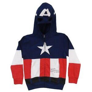 Captain America Costume Marvel Boys & Toddler Zip Up Hoodie
