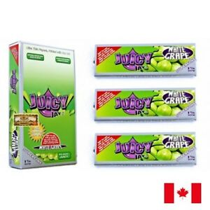 Juicy Jay's SUPERFINE 1 1/4 White Grape Flavored Rolling Papers 3 Packs