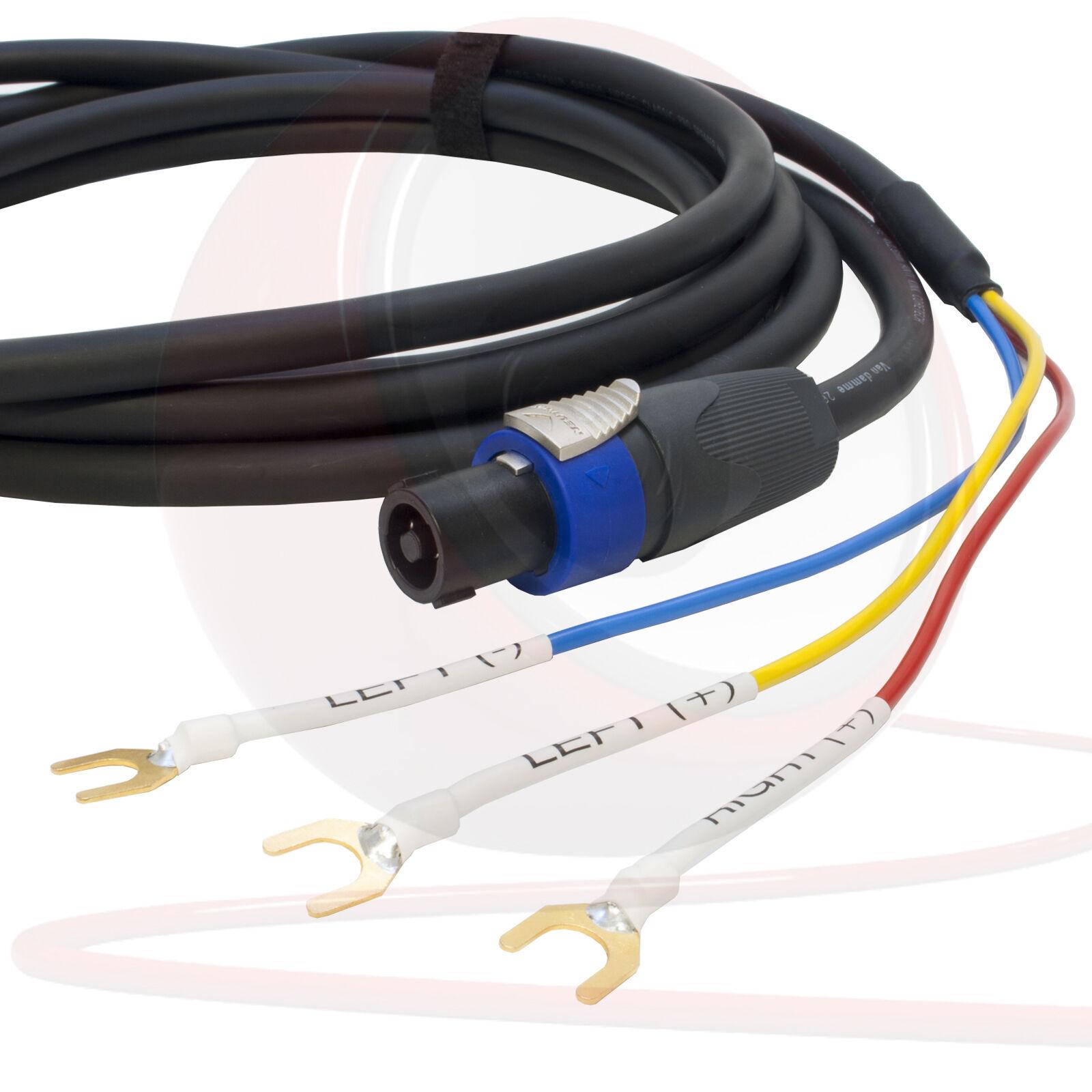 vendite dirette della fabbrica Rel 3 Wire Sub per Altoparlante Cavo. Neutrik Neutrik Neutrik Speakon a Vanga Estremità Sub  Ritorno di 10 giorni