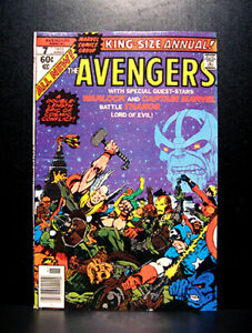COMICS-Marvel-Avengers-Annual-7-1977-1st-Space-and-Reality-Gems-app-RARE