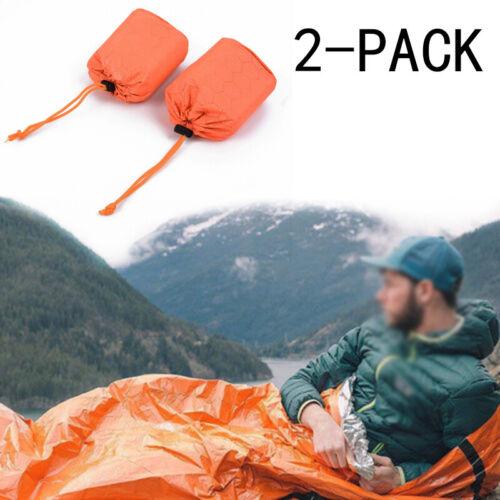 Wandern Schlafsack 2pcs Notfall Thermal Wasserdicht Outdoor Überleben Camping