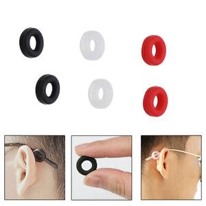 6 Pairs Anti-Slip Glasses Ear Hooks Tip Silicone Eyeglasses Grip Temple Holder