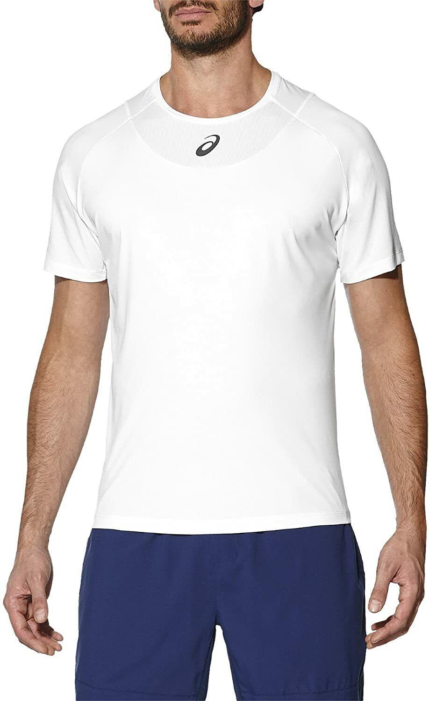 Asics Men's Club Top Short Sleeve Tennis Top - White - New