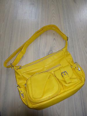Damenhandtasche Tasche Gelb mit vielen kleinen Fächern Hänkel Größen