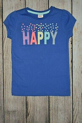 GYMBOREE HELLO HAPPY BLUE w// HAPPY GLITTER S//S TEE 4 5 NWT