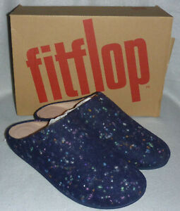 Box Ciabatte Midnight Wool Fitflop Clog Mog Sz On Slip Chrissie Speckle Navy 5 TwSxxvpRq