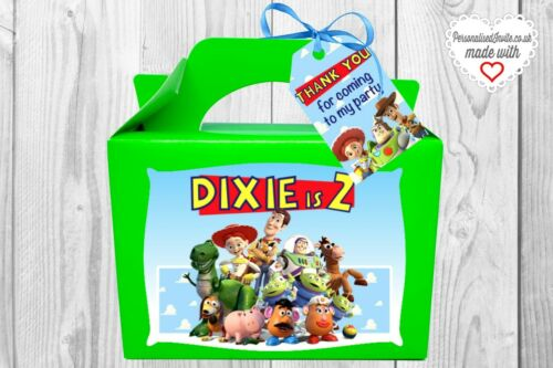Bag Personalised Toy Story movie party Box Unisex. Various colours
