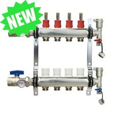 4 Loopport Stainless Steel Pex Manifold Radiant Heating With Connectors Pex Guy