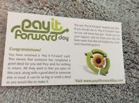 50 Pay It Forward Business Cards For Sociology Project -