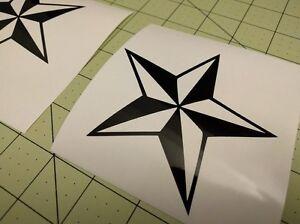 4-pack-Texas-Star-4-034-x-4-034-Gloss-Black-Vinyl-Decal-Sticker