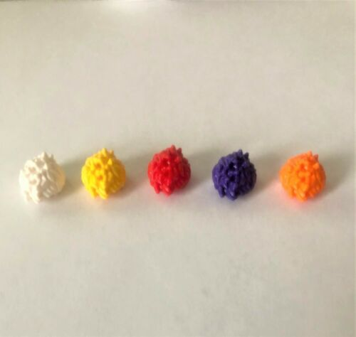 LEGO Assorted Color x Spiked Hair for mini figures 5