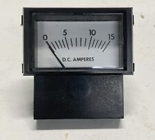 Made In Usa Prime Instruments Analog Current Panel Meter Dc 15a Amp Ammeter