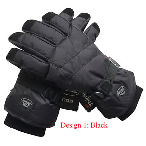 df125003d6f0f Image is loading Black-Men-Waterproof-Thinsulate-Winter-Cold-Weather-Ski-
