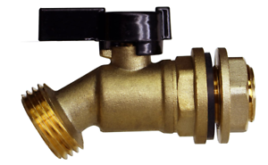Solid Brass Water Container Rain Barrel Quarter Turn Valve Spigot Kit Lead-Free