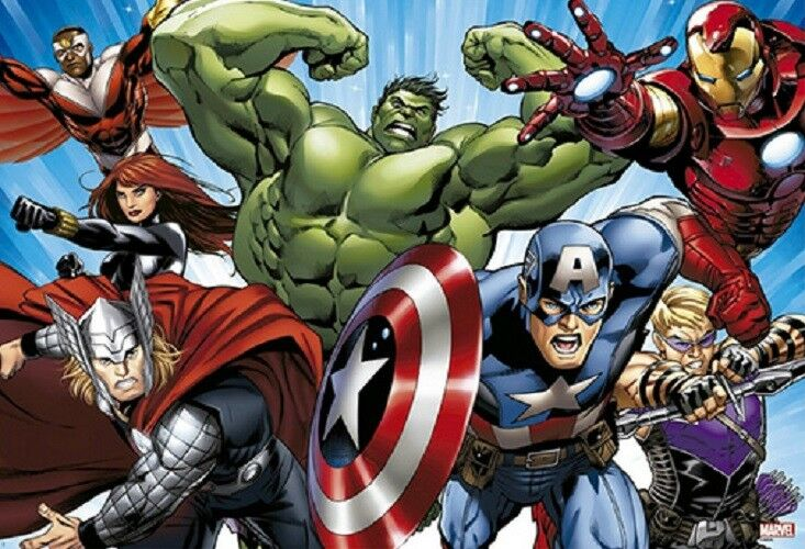 1000 Pieces Jigsaw Puzzle Marvel Avengers Charge Bromide Home Decoration