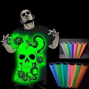 Glow-In-The-Dark-Vinyl-Heat-Press-Transfer-Film-Clothing-T-Shirts-HTV-50cm-Wide