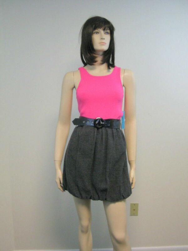 Alice + Olivia Bubble-Hem Knit Tank Dress  L 10 US